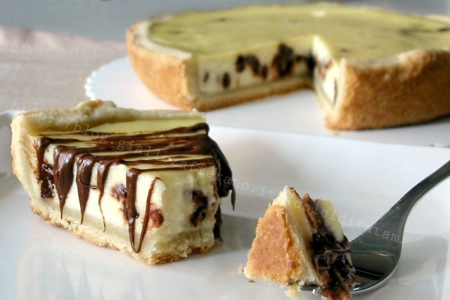 Crostata di ricotta e gocce di cioccolato