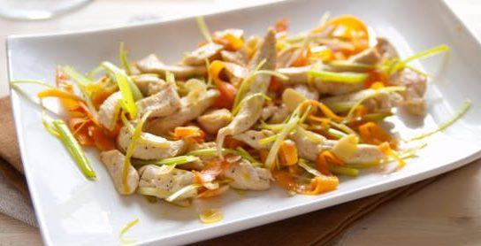 Insalata di pollo e mandorle